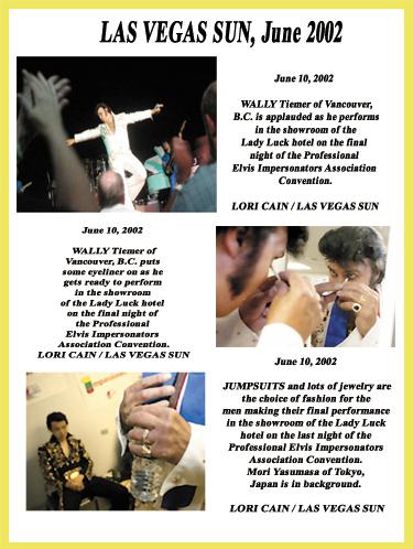 Elvis Impersonator Las Vegas Sun